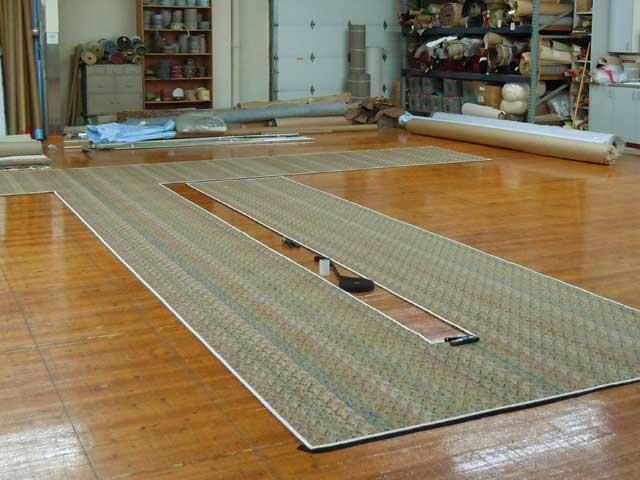 Custom built fitted rug